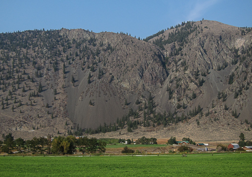 Landslides and grazing grass in the Similkameen Valley
